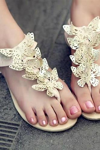 Sweet Butterfly Flat Sandals BCBDCC