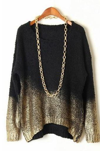 Gradient Loose Fit Sweater