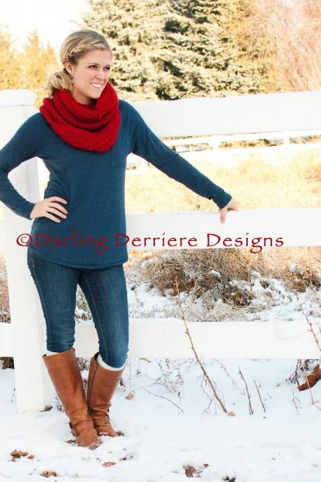 Double Wrap Infinity Scarf Crochet Pattern