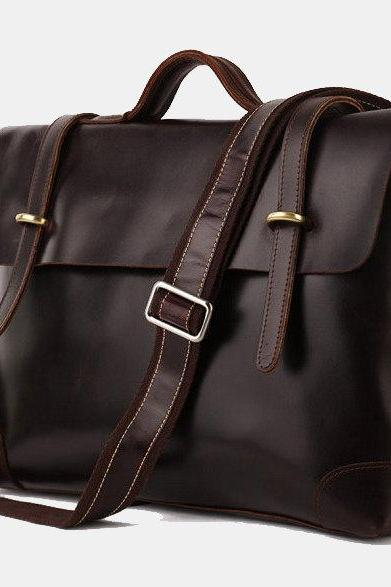 High quality genuine leather Bag / Leather Briefcase / Messenger /Laptop / Men's Bag --Y29