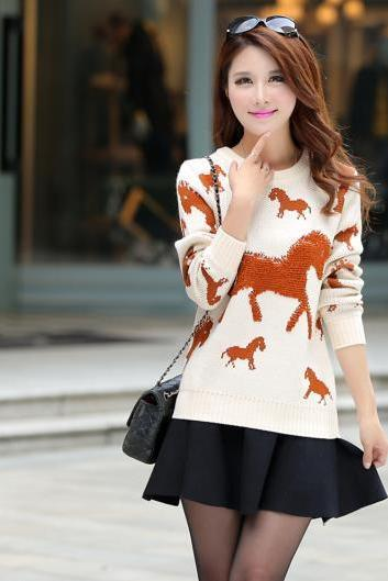 High Quality New Long Sleeve Round Neck Sweater
