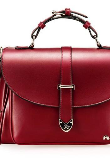 Cute Fashion Messenger Bag Handbag - Wine Red