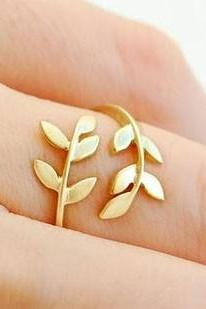 Korean Style Cute Leaf Design Rings