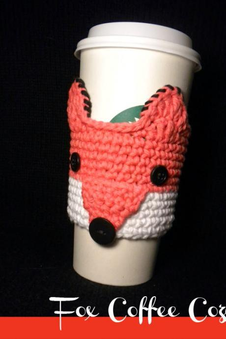 Fox Coffee Cozy Crochet Pattern