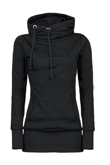 Beam Waist Korean Style Cotton Hoodies