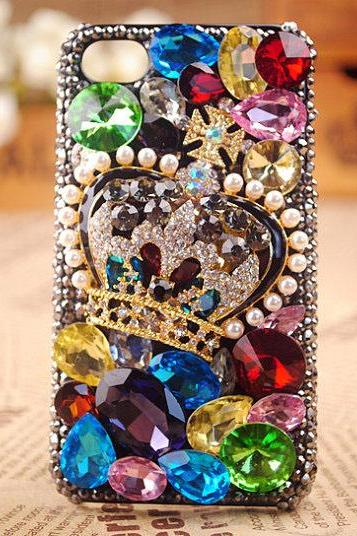 iphone 4 case, iphone 4s case, iphone 4G case,Bling iphone 4 case,Bling iphone 4s case, Crystal Crown iphone 4 case, Crystal Crown iphone 4s case,bling crown iphone 4 case,Bling Crown iphone 4s case
