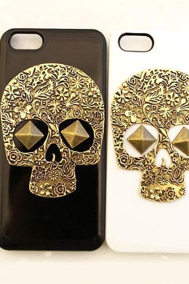 iphone 5 case, iphone 5s case, iphone 5G case,Skull iphone 5 case, Metal Skull iphone 5s case, Bronze iphone 5 case, Bronze iphone 5s case,Bronze iphone 5G case