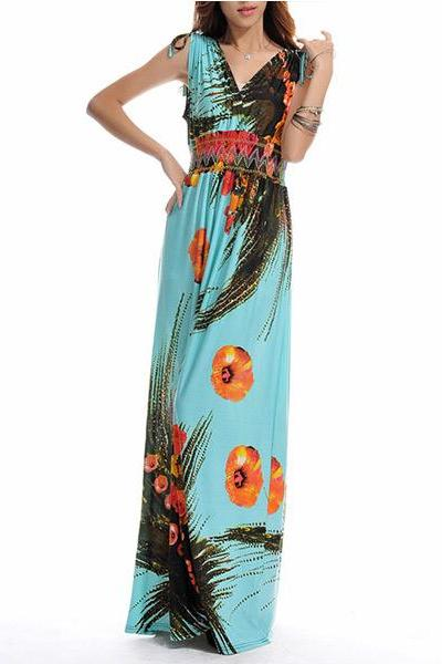 woman dress,summer dress,bohemian dress,ice silk dress,long dress,maxi dress,sundress,bridesmaid dress,print dress,loose dress,plus size,beach dress(206)