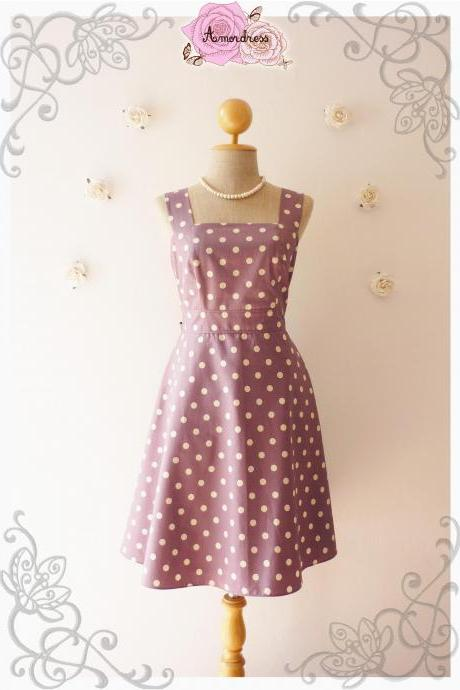 Purple Summer Dress Bridesmaid Dress Vintage Style Dress-Size XS,S,M,L,XL