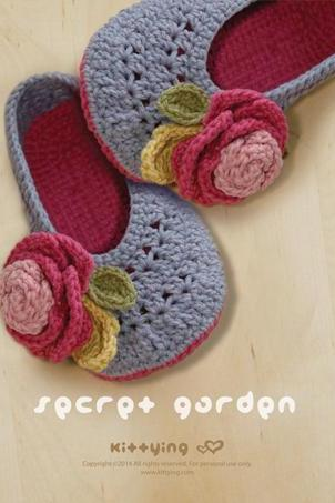 Secret Garden Women's House Ballerina Crochet Pattern - Women's sizes 5 - 10 - Chart & Written Pattern