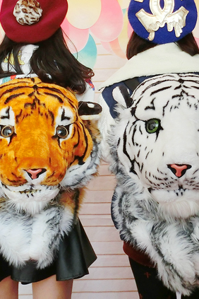 Harajuku Fluffy Tigers Backpacks
