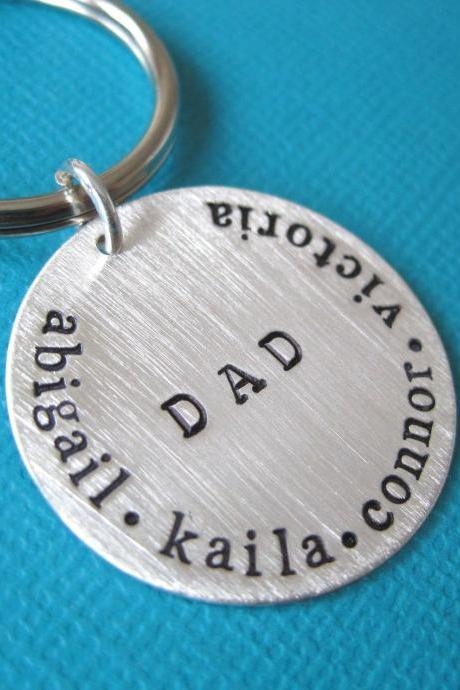 Perfect Gift For Valentine's Day - Personalized Hand Stamped Key Chain By Hannah Design