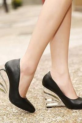 Black Platform High Heels Shoes