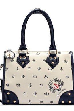 New Star Bags women's fashion smiley handbag navy style shoulder bag embroidered bags NSA37