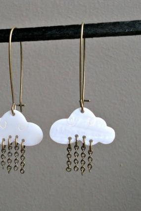 earrings in the clouds in the sky metal