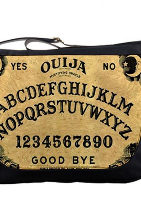 Vintage Ouija Witch Board Photo 14' Messenger Laptop Notebook Tablet Computer School Sling Shoulder Bag Handbag Tote Custom Made