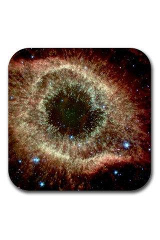 The Helix Nebula Astronomy Space Rubber Square Coasters Set 13213403 Made to Order Custom Design Available