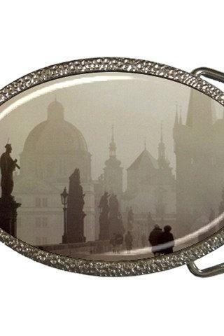 Prague Czech Republic Dark in Fog Belt Buckle 15144669 Made to Order Custom Design Available