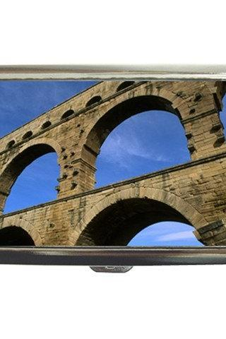 Ancient Roman Aqueduct Ruins Nimes France Cigarette Money Case 16352526 Made to Order Custom Design Available