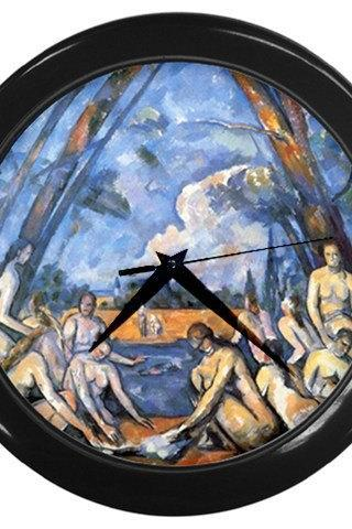 Paul Cezanne The Big Bathers Wall Clock Black 15618896 Made to Order Custom Design Available