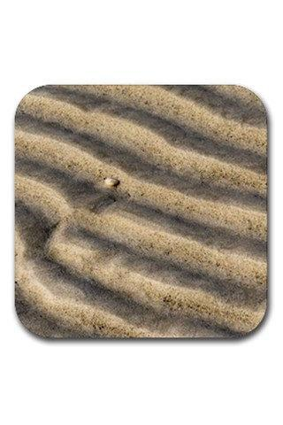 Zen Sand Ripples Rubber Square Coasters Set 12902904 Made to Order Custom Design Available