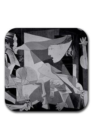 Pablo Picasso Guernica Rubber Square Coasters Set 11703190 Made to Order Custom Design Available