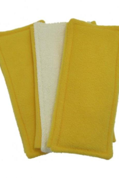 3 Swiffer Sweeper pads - Reversible - yellow