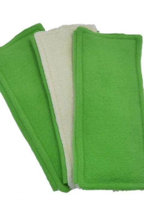 3 Washable Swiffer pads - Double Sided - Green