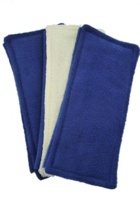 3 Reusable Swifter pads - fits the Swiffer Sweeper - Double Sided - Blue