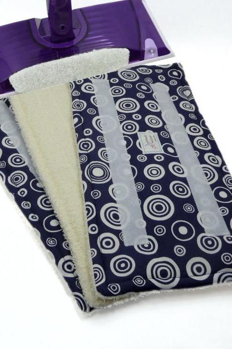 2 Wet Jet pads Reusable - Blue Circles pattern