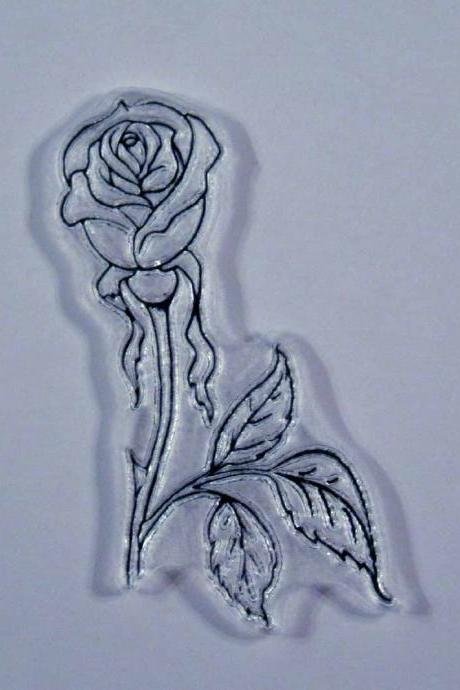 A Rose is a Rose clear stamp