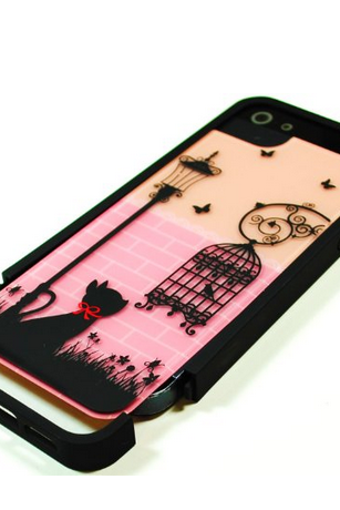 New Arrival Fashion Cute Birdcage Hard Cover Skin Case Protector For IPhone 4 4G 4S