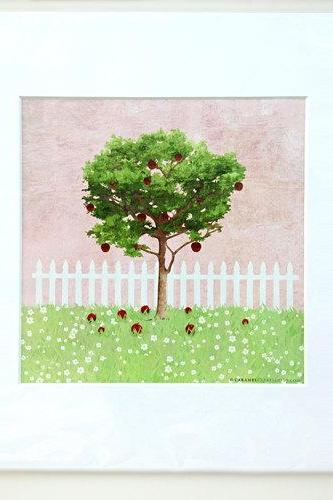 Garden Girls Apple Treet Nursery Wall Art Decor Print by Caramel Expressions