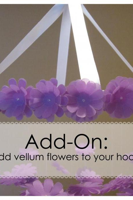 ADD ON - Add vellum flowers to your hoop