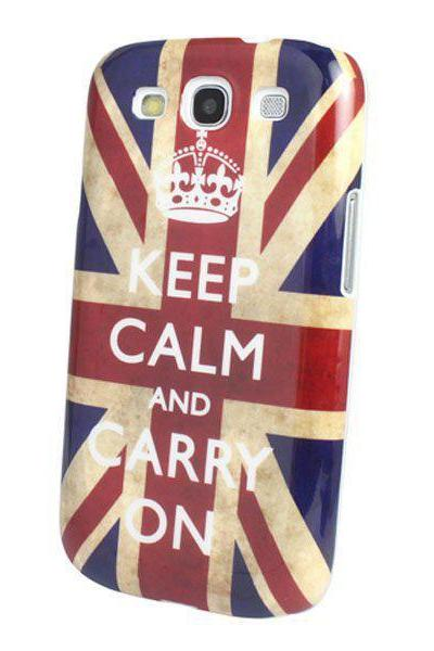 Retro KEEP CALM UK British Flag Hard Back Cover Case For Samsung Galaxy S3 i9300 New arrival!