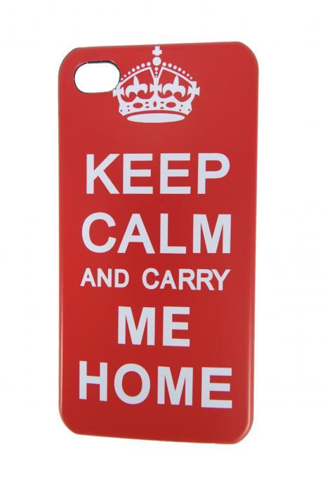 Coves For iphone 5 Classic KEEP CALM AND CARRY ON Hard Case For iPhone 5
