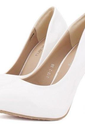 Elegant White High Heel SHoes