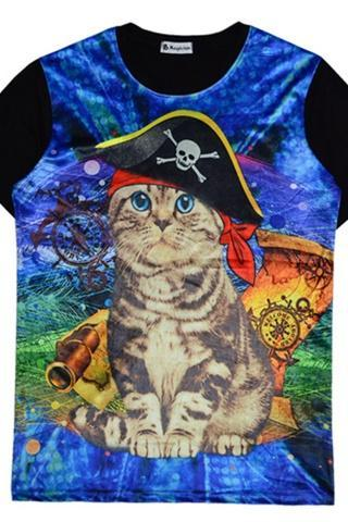 2014 My Cat Is A Psychedelic Pirate T-shirt