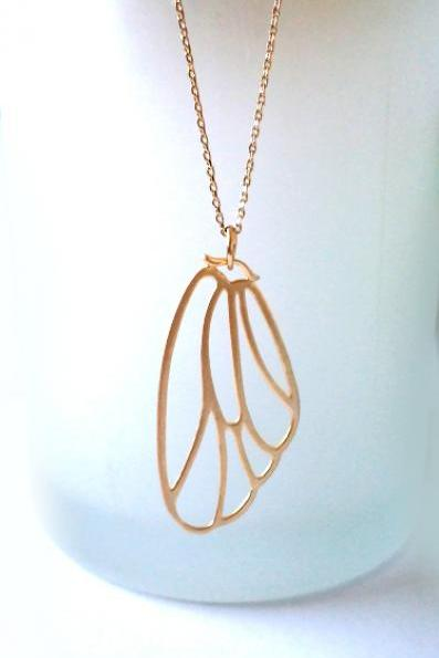 Boho Chic Necklace. Bohemian Necklace. Bridal, Bridesmaids Gift. Wedding Necklace. Butterfly Necklace. Butterfly Wing Necklace. Angel Wing Necklace. Angel Wings.