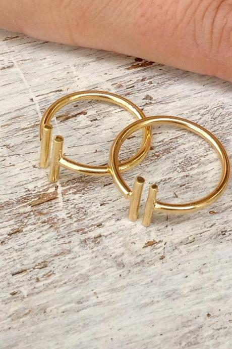 Adjustable ring, gold ring, knuckle ring, bar ring, adjustable gold ring, gold knuckle ring - R004
