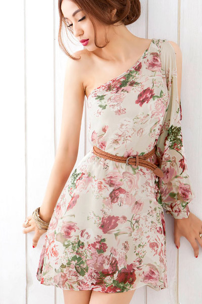 Beautiful Goddess Inspired One Shoulder Dress