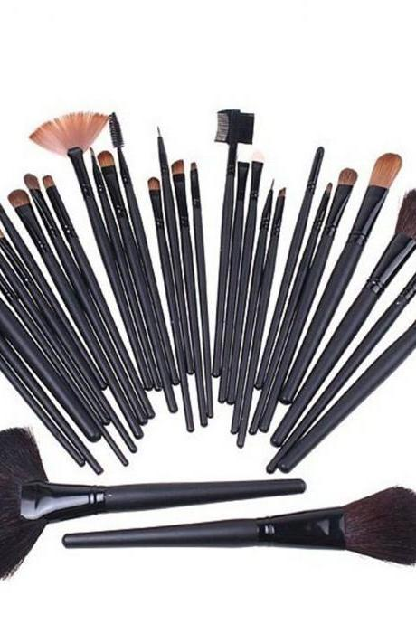Professional Beauty Cosmetic Makeup Brushes 32pcs Set Knit with Pouch [ghyxh33002]