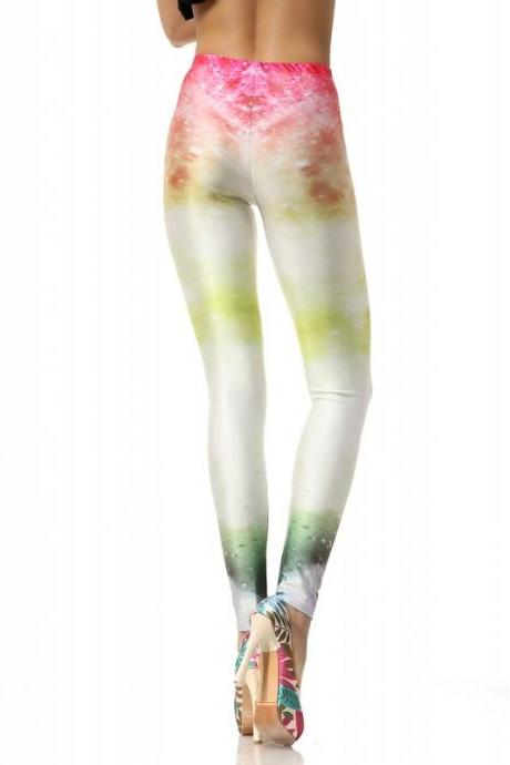 Women Leggings Stretch High Waist Luxurious Galaxy Print Legging Space Tight Pants Fadeless