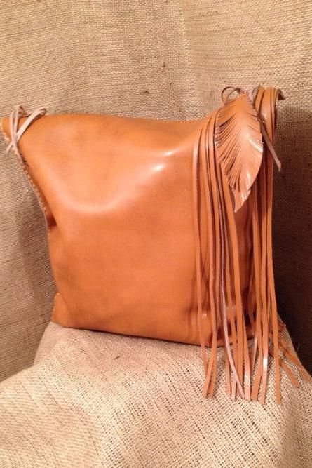 Natural Tan Leather Tote