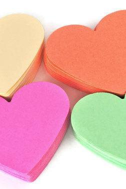 Heart Die cuts - 40 piece set. Beige, Coral, Mint and Bubble Gum Pink - Scrapbooking