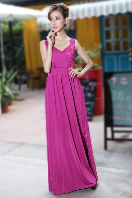 Rose pink Long Prom Dress Wedding Bridesmaid Dresses Evening Party Formal Gowns Holiday Dresses Cocktail Maxi Dresses Homecoming Dress Plus sizes