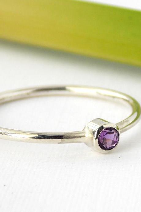 Sterling Silver Birthstone Ring: stackable birthstone ring / Silver ring / sterling silver ring / birthstone ring