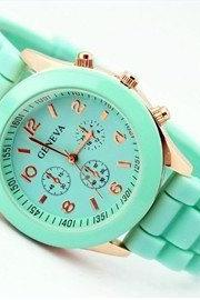 Silicone jelly watch wrist watch rose gold NT0050