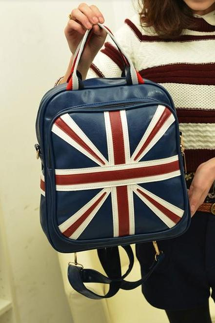 Retro Style Union Jack Navy Blue Bag