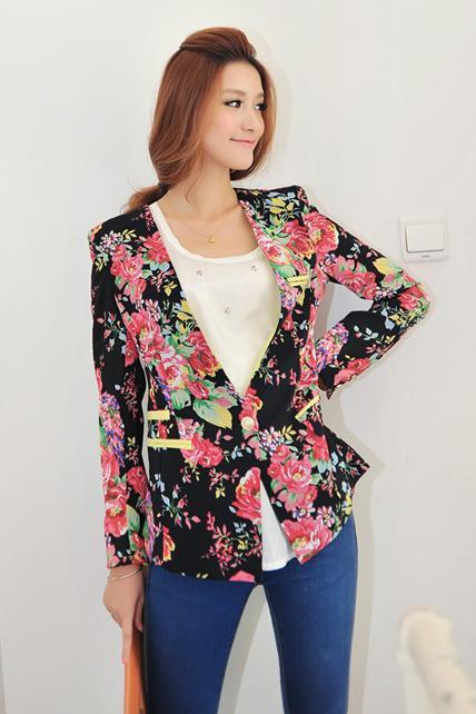 Beautiful Floral Printed Cotton Blazer